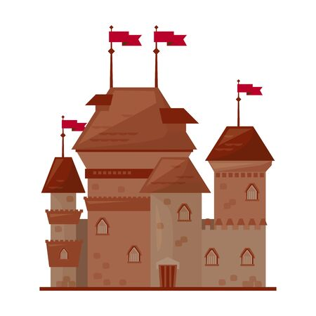 Medieval castle vector icon.Cartoon vector icon isolated on white background medieval castle. Illusztráció