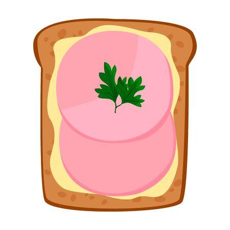 Toast vector icon.Cartoon vector icon isolated on white background toast.
