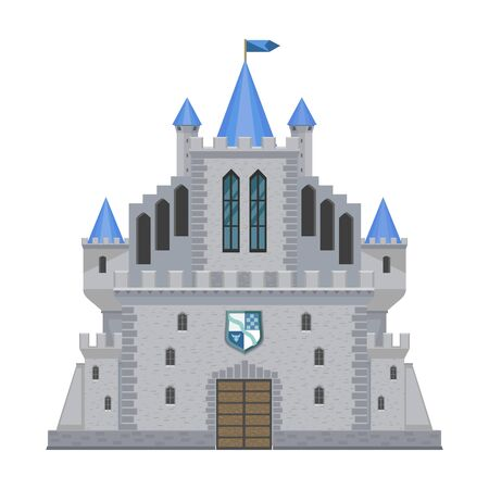 Castle vector icon.Cartoon vector icon isolated on white background castle.