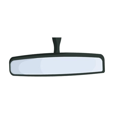 Rear view mirrors vector icon.Cartoon vector icon isolated on white background rear view mirrors.