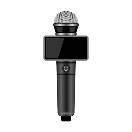 Microphone vector icon.Realistic vector icon isolated on white background microphone. 写真素材 - 143401945