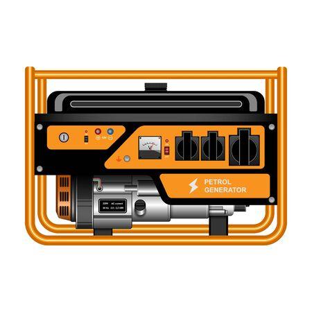 Generator vector icon.Realistic vector icon isolated on white background generator. Ilustración de vector