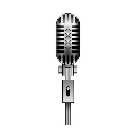 Microphone vector icon.Realistic vector icon isolated on white background microphone. 写真素材 - 143410895