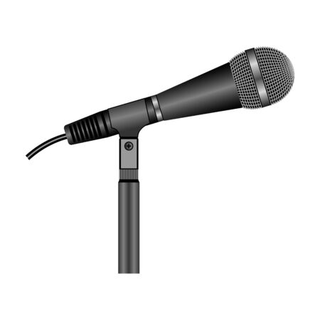 Microphone vector icon.Realistic vector icon isolated on white background microphone.