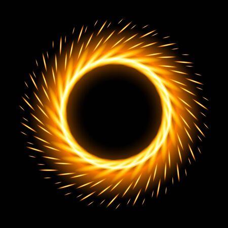 Flame vector icon.Realistic vector icon isolated on white background flame. Vektoros illusztráció
