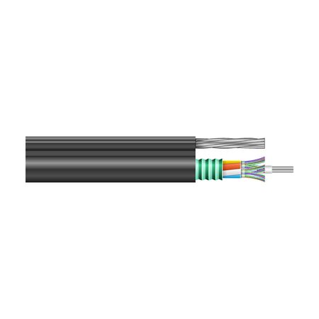 Fiber cable vector icon. Realistic vector icon isolated on white background fiber cable.