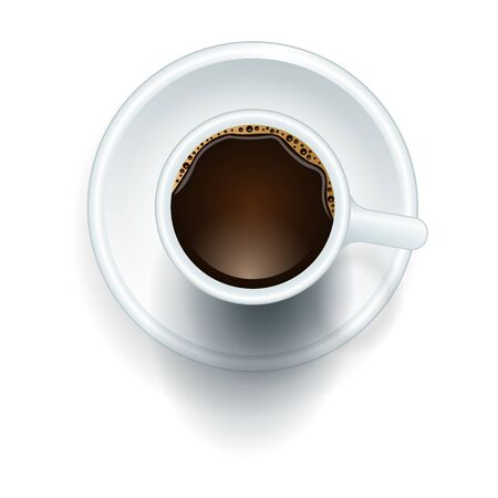 Coffee top vector icon.Realistic vector icon isolated on white background coffee top .