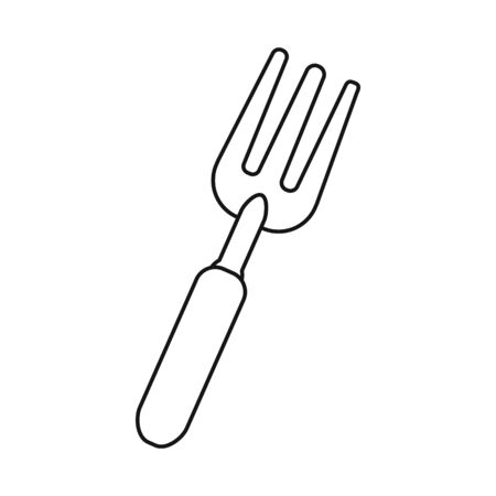 Isolated object of pitchfork and fork . Web element of pitchfork and agricultural stock vector illustration.