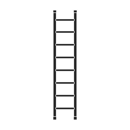 Ladder vector icon.Black vector icon isolated on white background ladder.