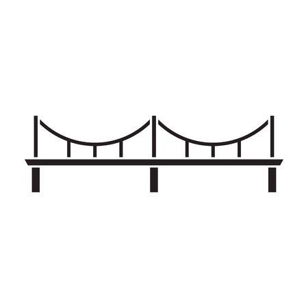 Icône de vecteur de pont. Icône de vecteur noir isolé sur pont de fond blanc.