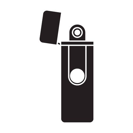 Lighter vector icon.Black vector icon isolated on white background lighter . Banque d'images - 144077067