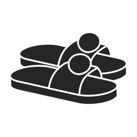 Shoe vector icon.Black vector icon isolated on white background shoe. Ilustracje wektorowe