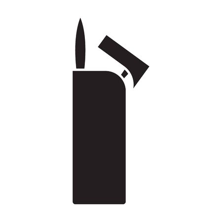 Lighter vector icon.Black vector icon isolated on white background lighter . Banque d'images - 144078901