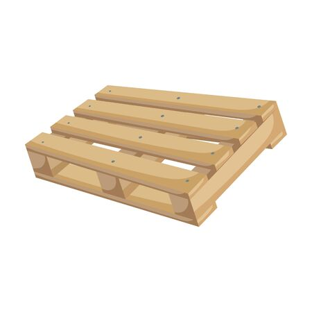 Wooden pallet vector icon.Cartoon vector icon isolated on white background wooden pallet.