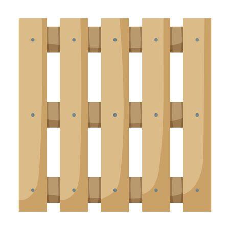 Icono de vector de paleta de madera Icono de vector de dibujos animados aislado sobre fondo blanco paleta de madera.