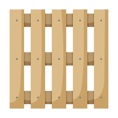 Wooden pallet vector icon.Cartoon vector icon isolated on white background wooden pallet. Ilustração