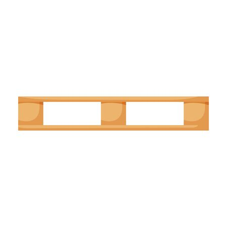 Wooden pallet vector icon.Cartoon vector icon isolated on white background wooden pallet. Banco de Imagens - 144097910