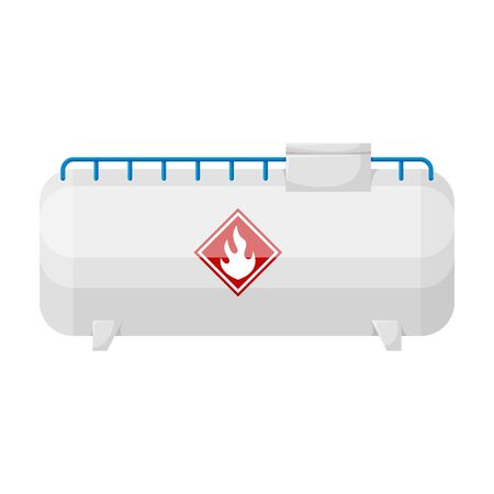 Gas tank vector icon.Cartoon vector logo isolated on white background gas tank.