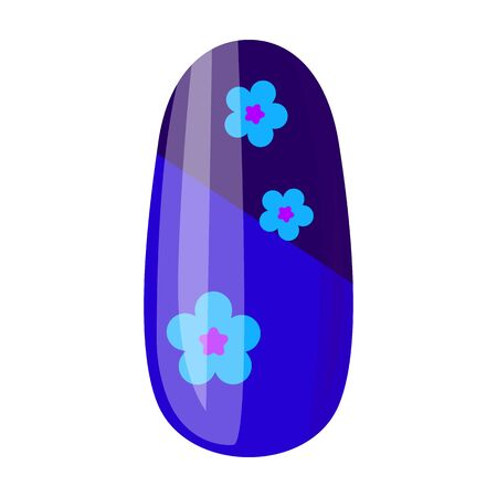 Nail of manicure vector icon.Cartoon vector icon isolated on white background nail of manicure.