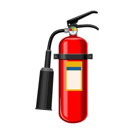 Fire extinguisher vector icon.Cartoon vector icon isolated on white background fire extinguishe.