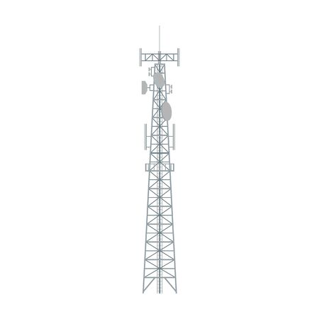 Radio tower vector icon.Cartoon vector icon isolated on white background radio tower.
