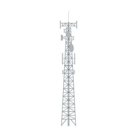 Icône de vecteur de tour radio. Icône de vecteur de dessin animé isolé sur tour radio de fond blanc.