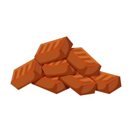 Pile brick vector icon.Cartoon vector icon isolated on white background pile brick. Vector Illustration