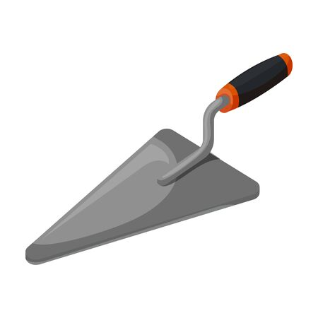 Trowel vector icon.Cartoon vector icon isolated on white background trowel.