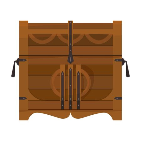 Chest vector icon.Cartoon vector icon isolated on white background chest.