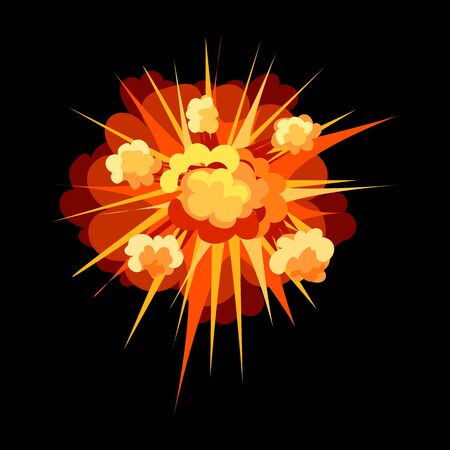 Explosion vector icon.Cartoon vector icon isolated on white background explosion.