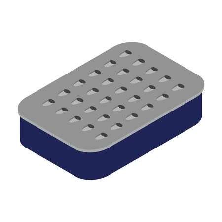 Grater vector icon. Isometric vector icon isolated on white background grater. Vetores