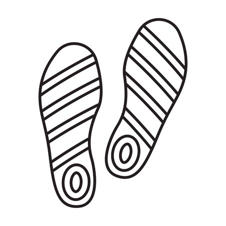 Print of shoe vector icon.Outline vector icon isolated on white background print of shoe . Illustration