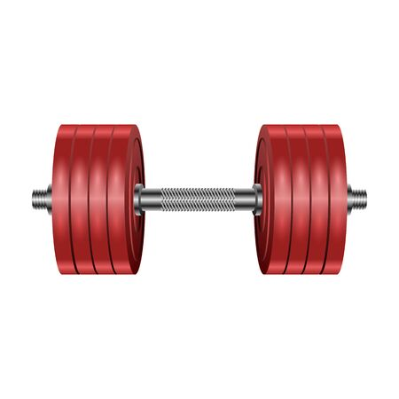 Dumbbell vector icon. Realistic vector icon isolated on white background dumbbell. Illustration
