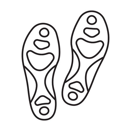 Print of shoe vector icon.Outline vector icon isolated on white background print of shoe .