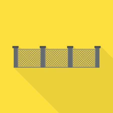 Vector illustration of fence and wall. Web element of fence and border stock vector illustration.