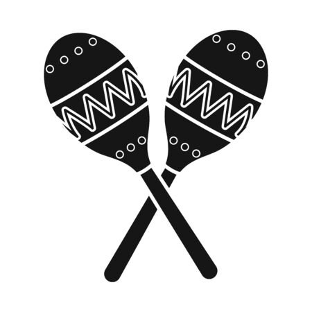 Vector illustration of maraca and instrument sign. Web element of maraca and maracas stock symbol for web.