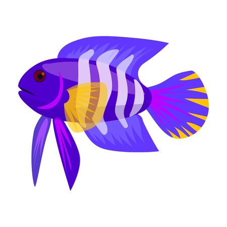 Tropical fish vector icon.Cartoon vector logo isolated on white background tropical fish.