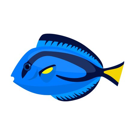 Tropical fish vector icon.Cartoon vector icon isolated on white background tropical fish.