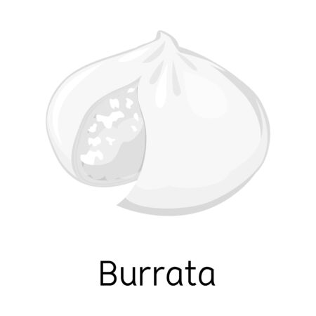 Vector design of cheese and burrata logo. Web element of cheese and meal stock vector illustration.