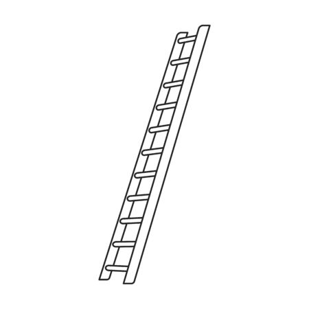 Stepladder vector icon.Outline vector icon isolated on white background stepladder . Illustration