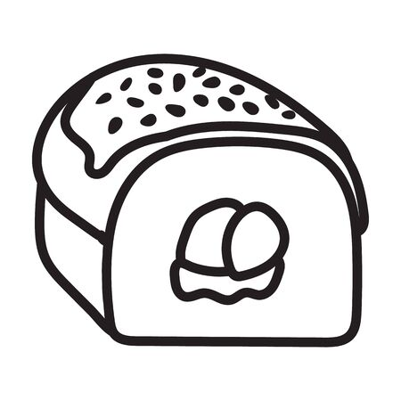 Sushi vector icon.Outline vector icon isolated on white background japanese food.