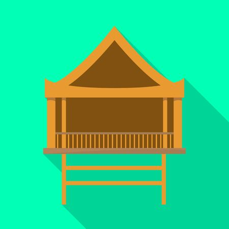 Vector illustration of stilts and wood icon. Collection of stilts and patio vector icon for stock.
