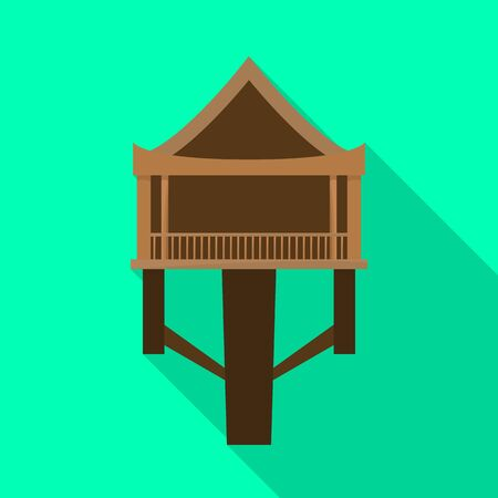 Vector illustration of stilts and wood icon. Set of stilts and patio stock vector illustration.