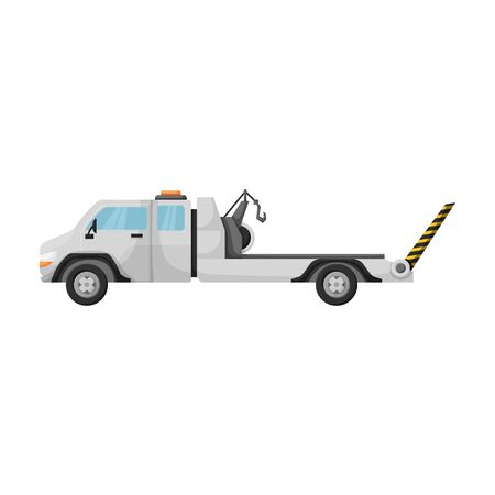 Truck tow vector icon.Cartoon vector icon isolated on white background truck tow.