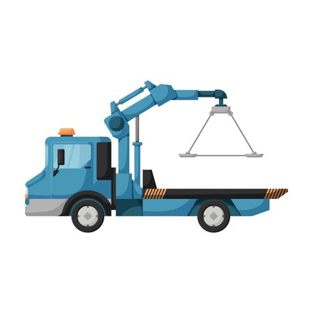 Truck tow vector icon.Cartoon vector icon isolated on white background truck tow. Vector Illustratie