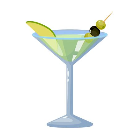 Summer cocktail vector icon.Cartoon vector icon isolated on white background summer cocktail.