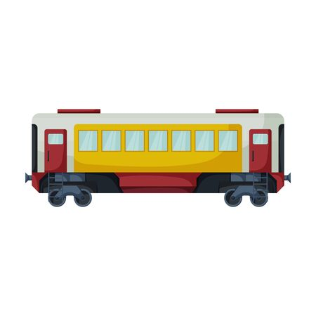 Wagon of locomotive vector icon.Cartoon vector icon isolated on white background wagon of locomotive.