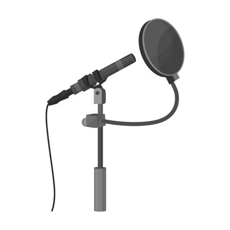 Mic vector icon.Cartoon vector icon isolated on white background mic. Vektoros illusztráció