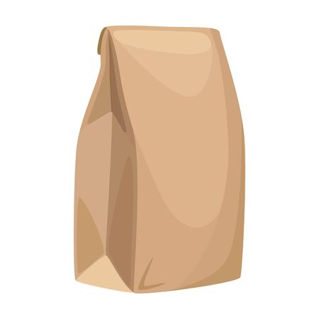 Packaging flour vector icon.Cartoon vector icon isolated on white background packaging flour.