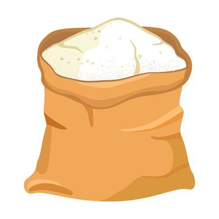 Bag flour vector icon.Cartoon vector icon isolated on white background bag flour.